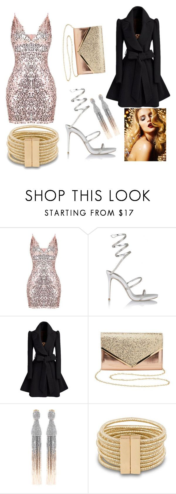 """Glitz and Glam"" by paws-cwessels on Polyvore featuring René Caovilla, Charlotte Russe and Oscar de la Renta"