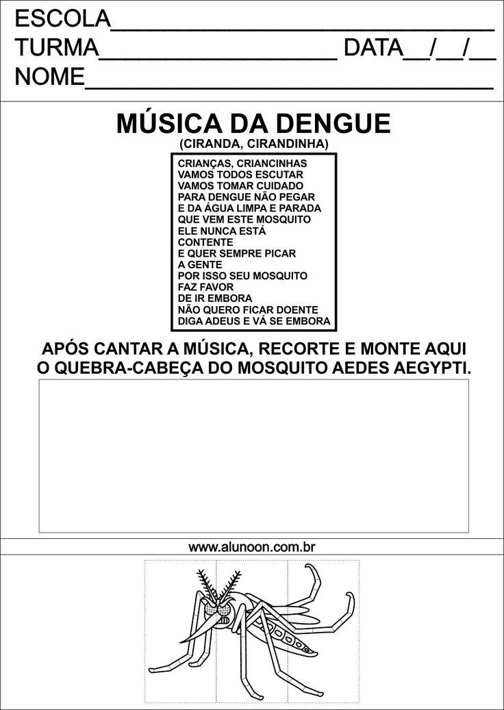 Quebra-Cabeça do mosquito da Dengue, Zika e Chikungunya - Aedes Aegypti - Educação Infantil - Aluno On