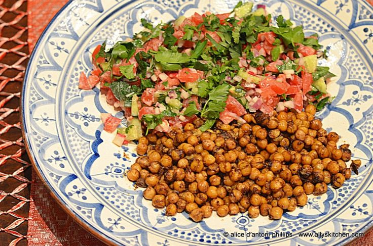 ~spiced chickpeas & crunchy veggies~ Thank you Yotam for this fabulous idea!