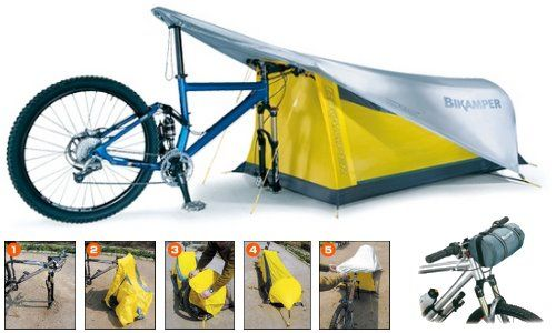 Hmm... Do you think you would use this? Topeak Bikamper One-Person Bicycling Tent. #biketouring #tent #camping