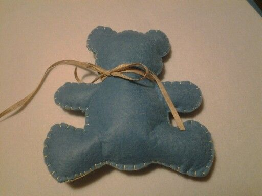 Felt teddy bear handmade