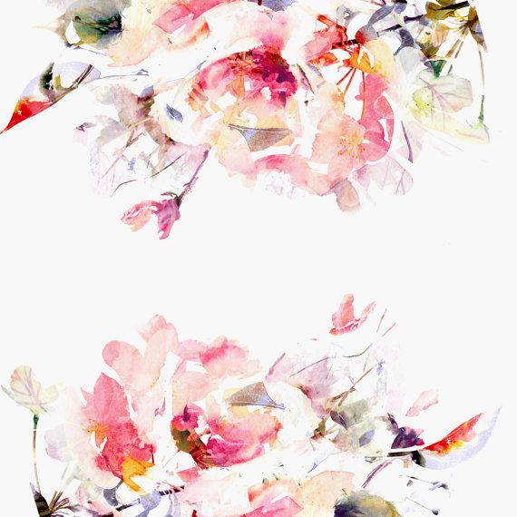 Spring Floral Large Wall Mural Watercolor Mural by anewalldecor