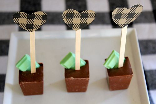 Chocolate Mold Sticks from Ice Cube Trays!
