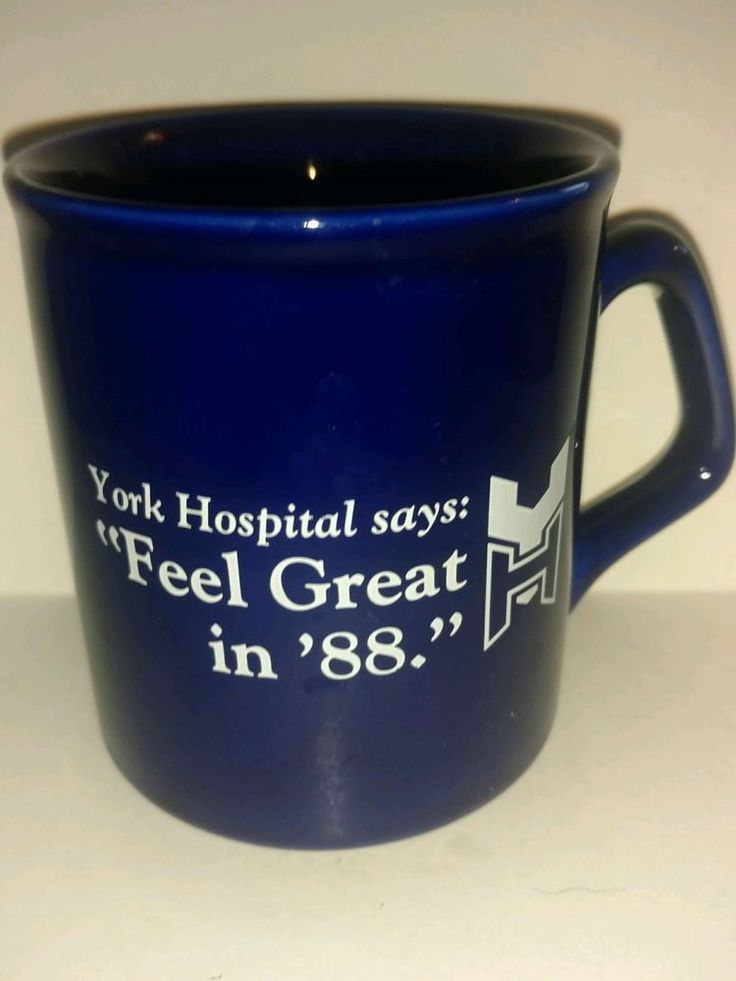 Vintage 1988 York Hospital Collectible Coffee Mug Feel Great in 88