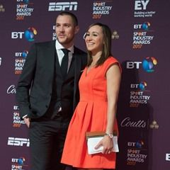Jessica Ennis-Hill and husband Andy Hill attend the 2017 BT Sport Industry Awards
