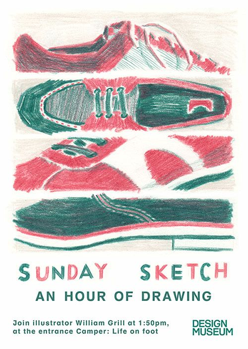 Join me for some drawing at the Design Museum this Sunday!