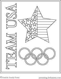 Team USA Olympics Poster, stars and stripes