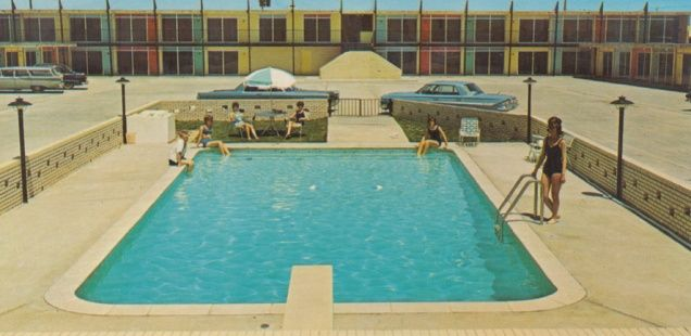 54 best mid century modern motels 50 39 images on pinterest swimming pools pools and swiming pool for Phoenix swimming pool white city