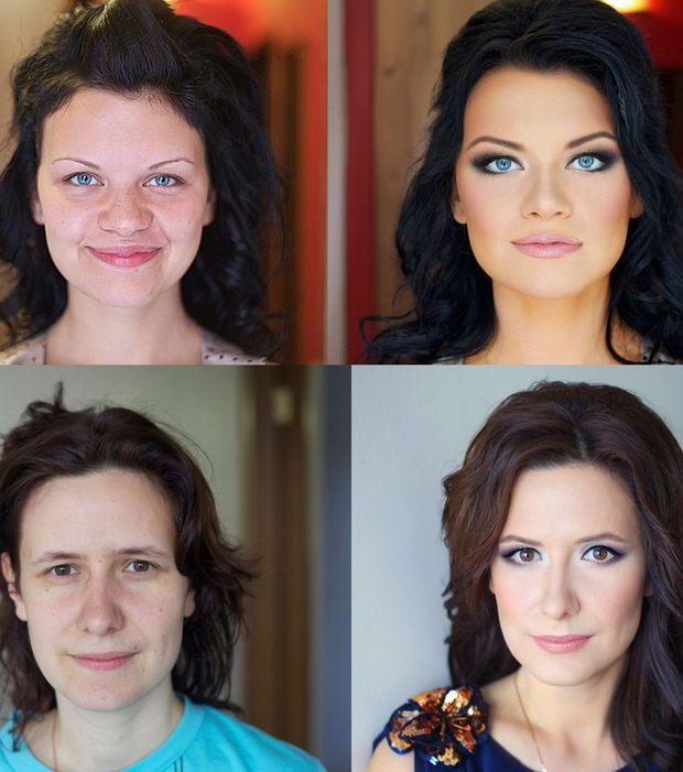 Photo : Un maquilleur russe offre ses services aux femmes ordinaires pour les transformer en mannequins lors d'événements spéciaux comme les mariages