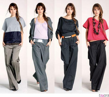 Les filles porte des pantalons amples.
