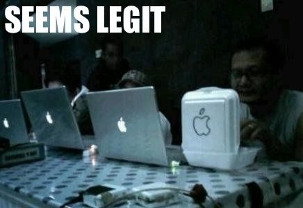 LOL The only way I would be able to afford anything with the apple logo on it! HA!