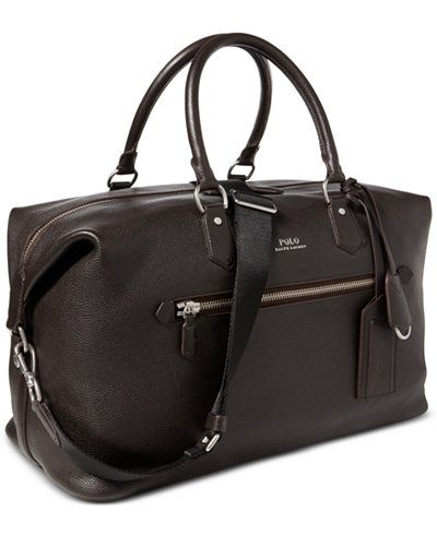 Polo Ralph Lauren Men s Pebbled Leather Duffel Bag  cfc15e36555a7