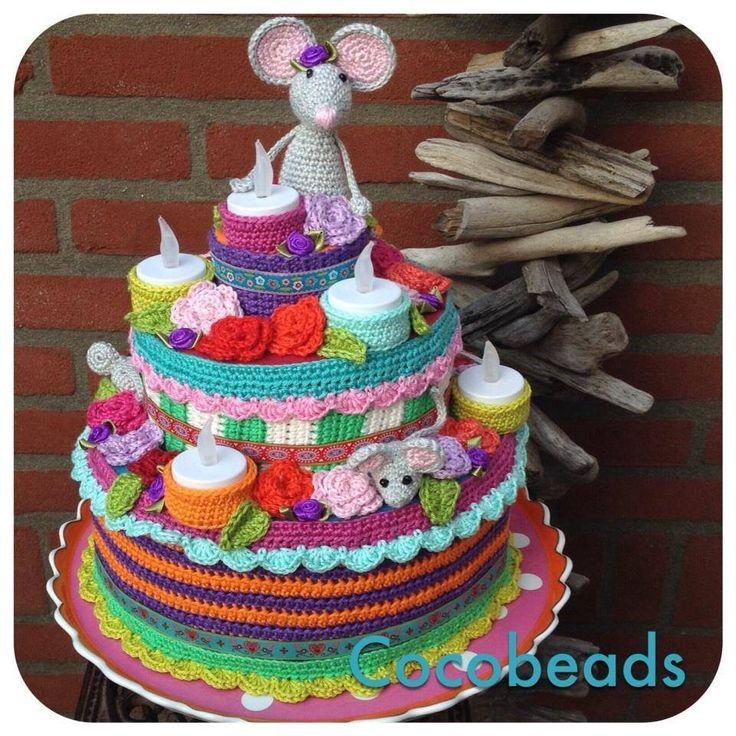 Mooie verjaardagstaart voor in de klas!! Te bestellen op: http://cocobeads-original.blogspot.nl