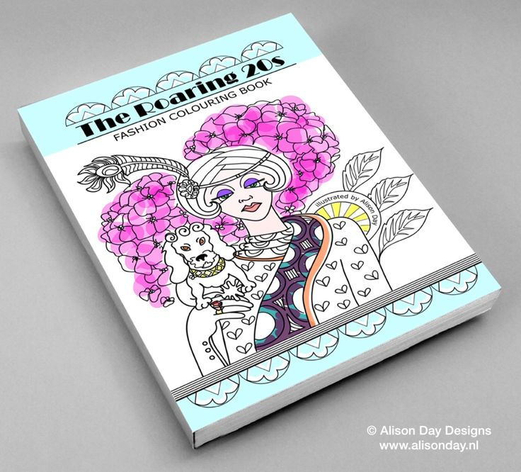 1920s colouring book cover design by Alison Day Newsletter - for more info and creativity: http://alisonday.us8.list-manage.com/subscribe?u=f0ee923eb109c974f6e7d72c2&id=d783011ad5