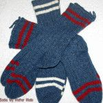 Heater Blue with Various Colored Stripes