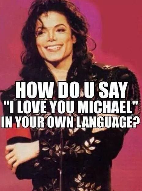 """In persian(iranian) means i love you michael""""مايكل دوستت دارم"""""""