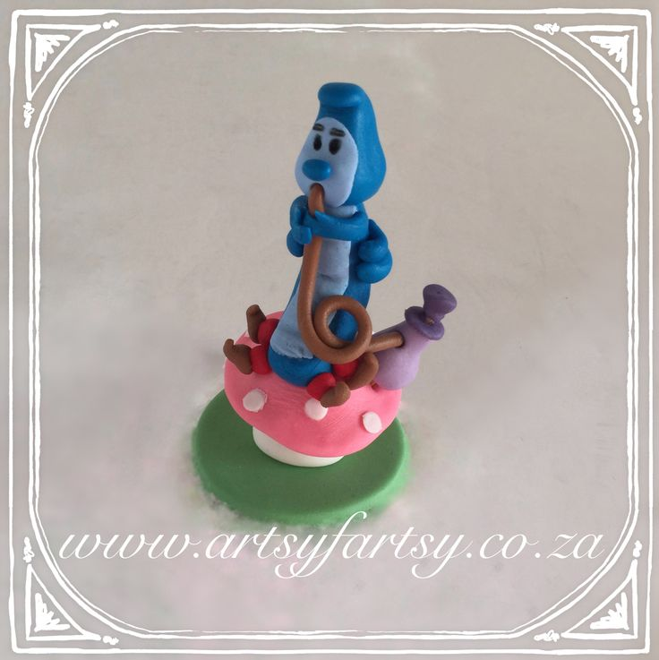 Alice in Wonderland Sugar Figurines #aliceinwonderlandsugarfigurines #catterpillar