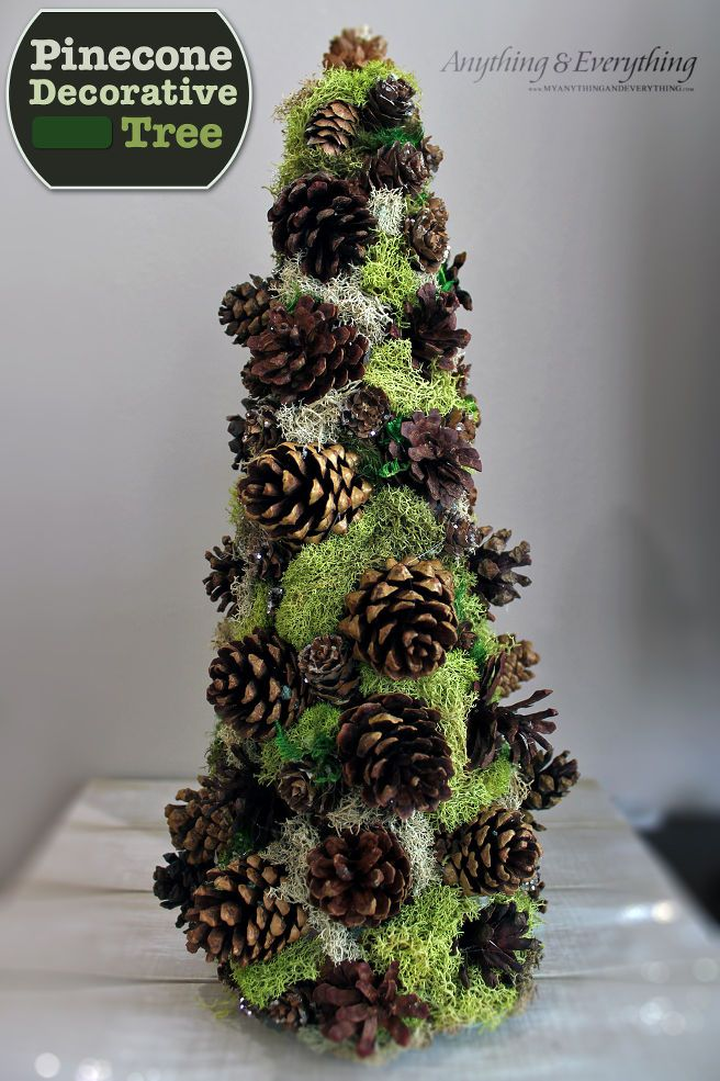 how to make a pinecone decorative tree christmas trees. Black Bedroom Furniture Sets. Home Design Ideas