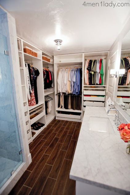 Closet And Bath Combined 4 Men 1 Lady Master Bathroom Reveal
