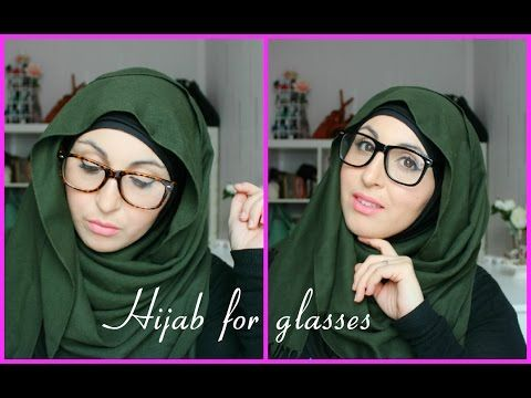 Tutoriel Hijab pour lunettes | Hijab tutorial for glasses - YouTube
