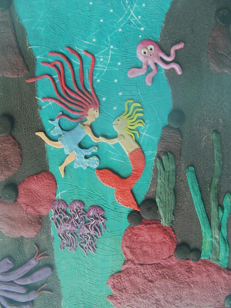 un sueño bonito. ilustración hecha en plastilina.