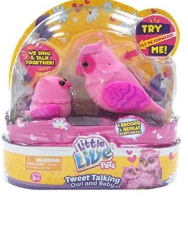 NEW LITTLE LIVE PET TWEET TALKING OWL BABY Pink Owls Great Easter Gift HTF #MooseToys
