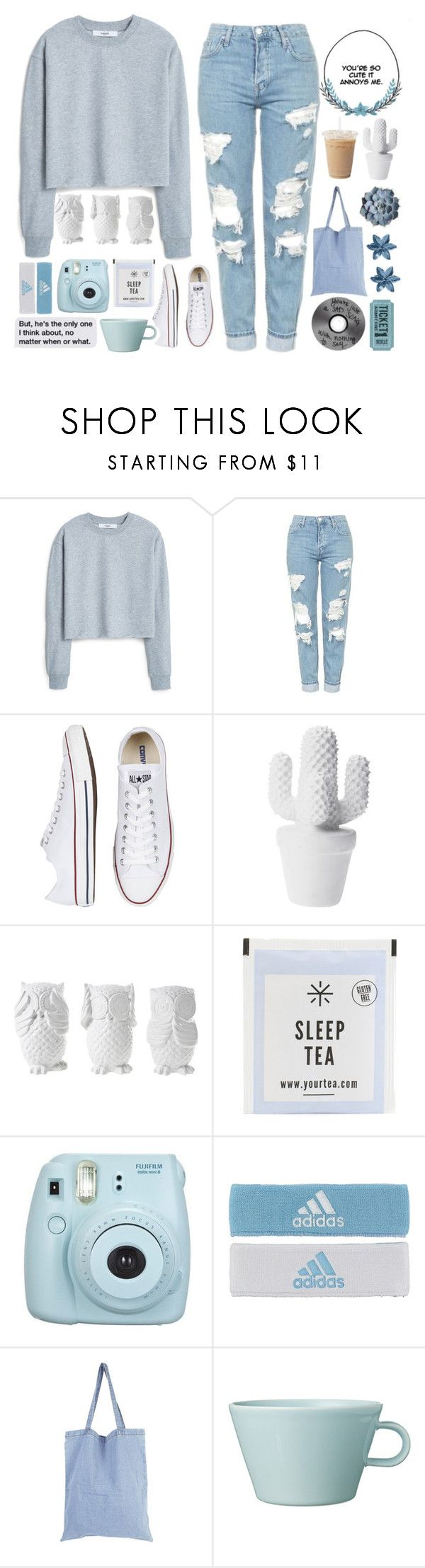 """Can't stop staring at those ocean eyes"" by defying-gravity-xxx ❤ liked on Polyvore featuring MANGO, Topshop, Converse, Design 55, Fujifilm, adidas, StyleNanda, Arabia and calisartsets"