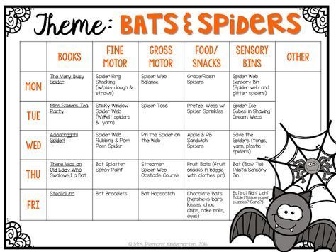 Tons of bat & spider themed activities and ideas for tot school, preschool or kindergarten.