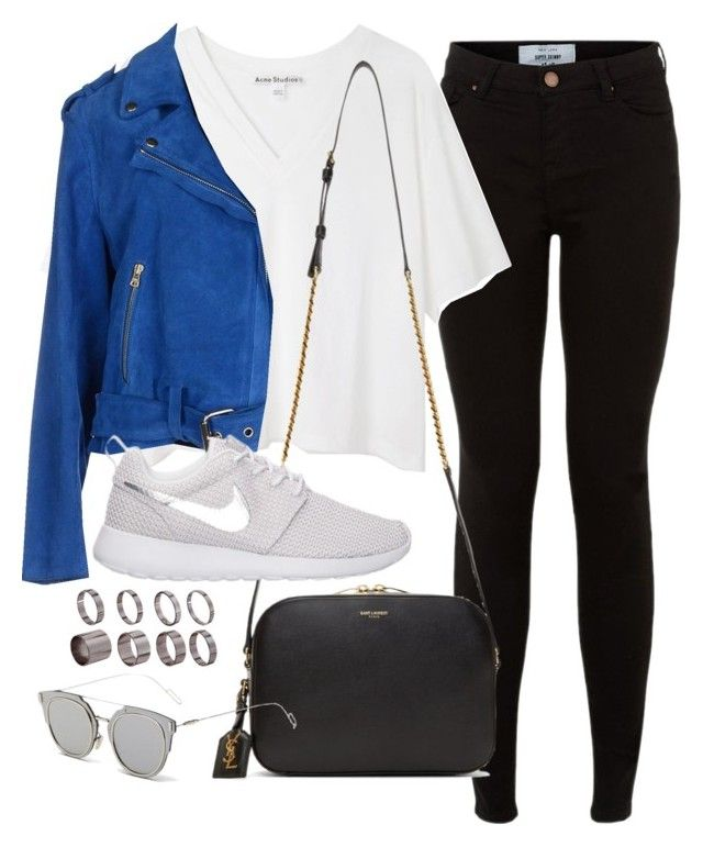 """""""Sin título #1227"""" by camila-echi ❤ liked on Polyvore featuring Acne Studios, Club Monaco, Yves Saint Laurent, GANT, NIKE and ASOS"""
