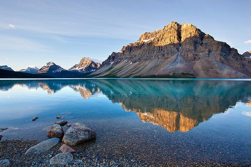 by mikev1)  Bow Lake, Alberta, Canada, (source Flickr)