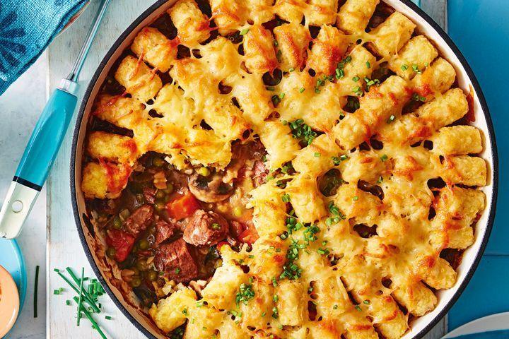 Steak Diane pie with potato gem topping | Recipe in 2020 ...