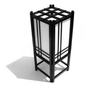 Cómo hacer una lámpara japonesa de mesa - 7 pasos