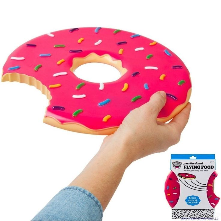 The Donut Flying Disc - Flying Patry Dessert Food - Frisbee Beach Fun - Bigmouth