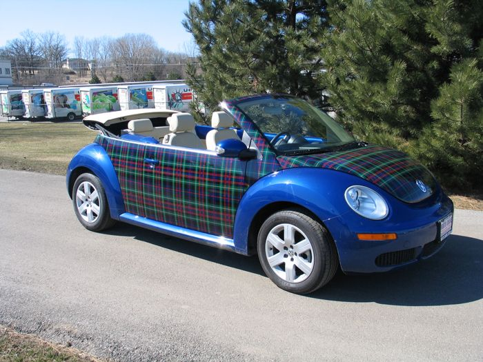 plaid volkswagon bug