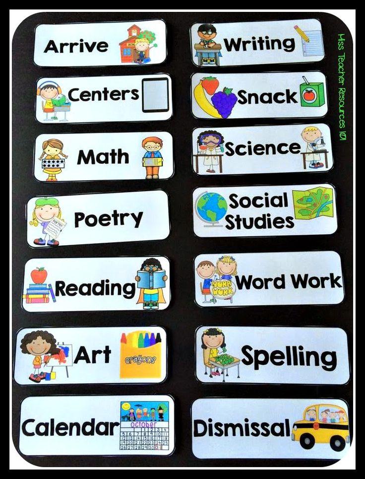 Back to School Classroom Prep - Schedule Cards {Freebie}