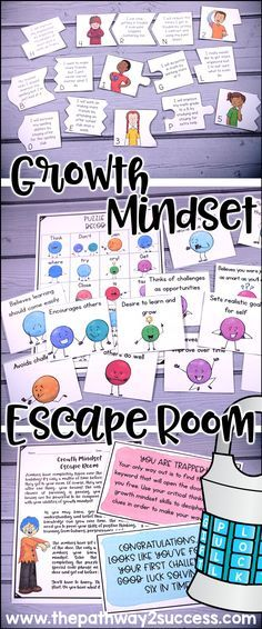 Use this scavenger hunt style escape room activity to teach and discuss growth mindset with your students! Ideal for a small groups including counseling groups, advisory, resource rooms, and more.