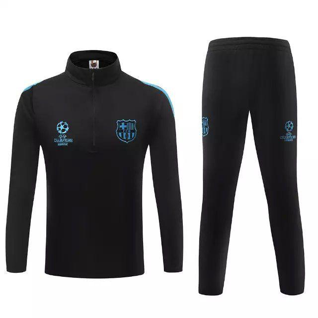 equipement football Nouveau Champions league Survetement magasin foot Barcelone Noir 2015 2016