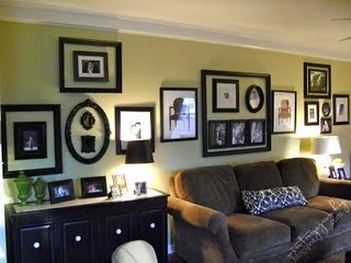 Grouping Of Photos In The Empty Frame Living Room