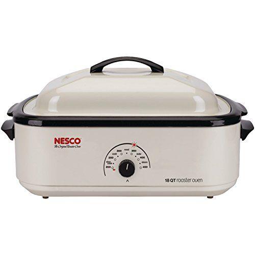 Nesco 4818-14 Classic Roaster Oven, 18-Quart, Porcelain Cookwell, Ivory