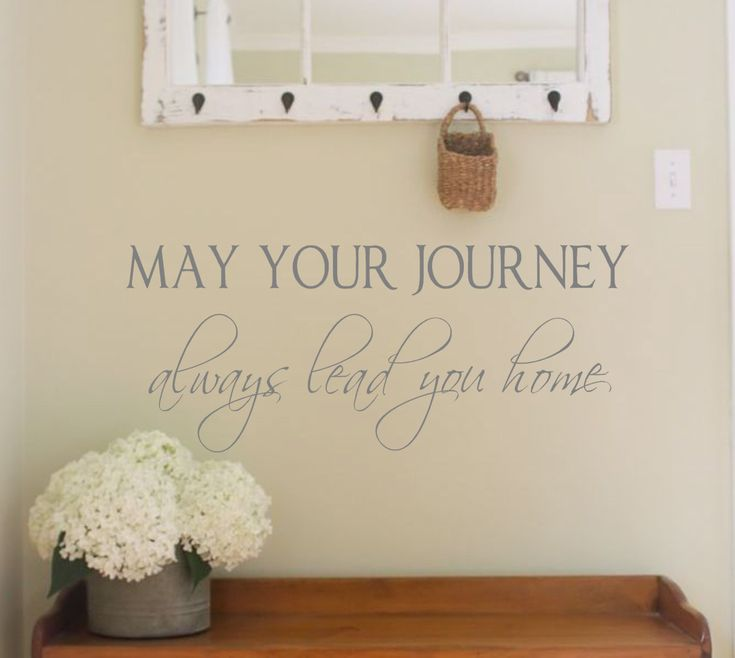 Family Wall Decal- May your journey always lead you home- Vinyl Wall Decal Personalized Wall Quotes- by landbgraphics on Etsy
