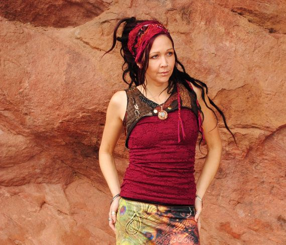 Hippie Vest Patchwork top Intergalactic by IntergalacticApparel