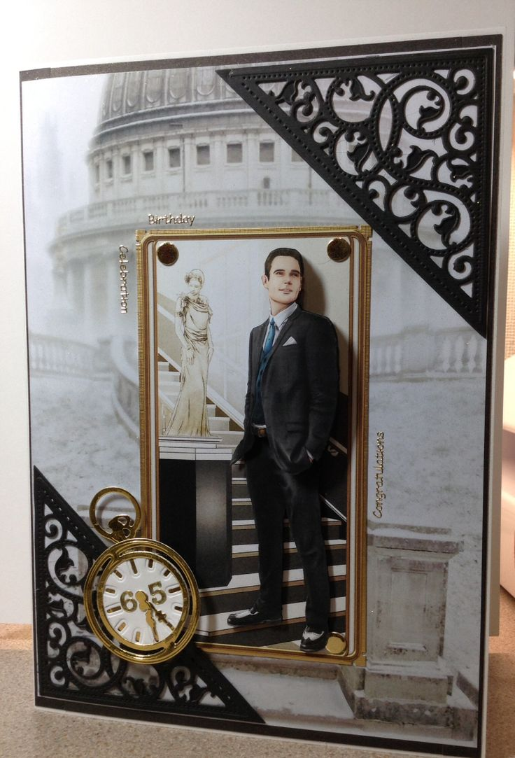 #debbi moore design #spellbinders #art deco #gentleman #fob watch #london