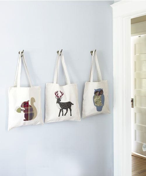 Create these animal-themed totes for a great woodland craft.