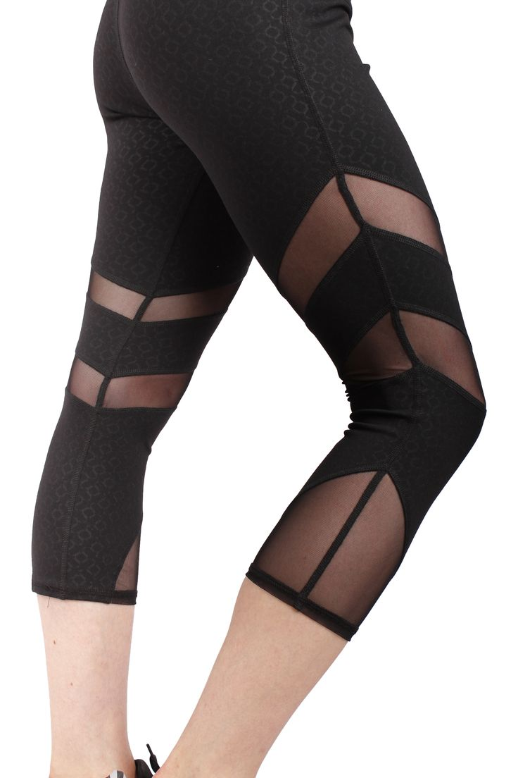 Soul Capri in onyx with mesh details