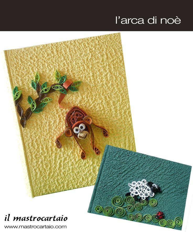 Il mastrocartaio Album.. Per la collezione Quilling, la scimmietta e la pecorella realizzate a mano con l'utilizzo della carta!! www.mastrocartaio.com