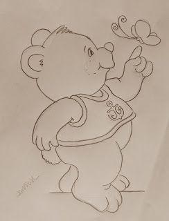 Arte * Vida: Ursinho e Borboleta