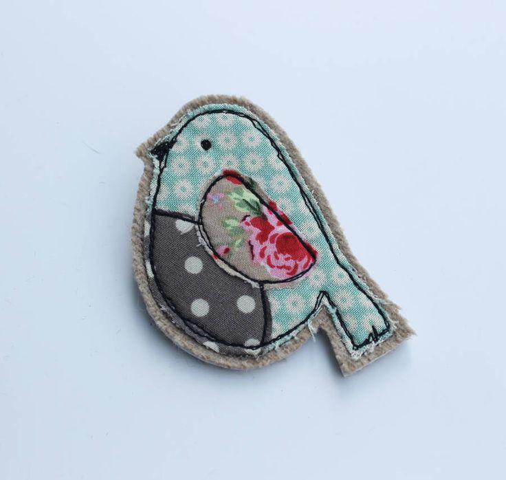 fabric bird brooch by honeypips   notonthehighstreet.com