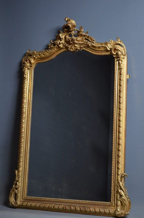 Formal dining - Victorian overmantel mirror (to sit above sideboard on the end wall??)