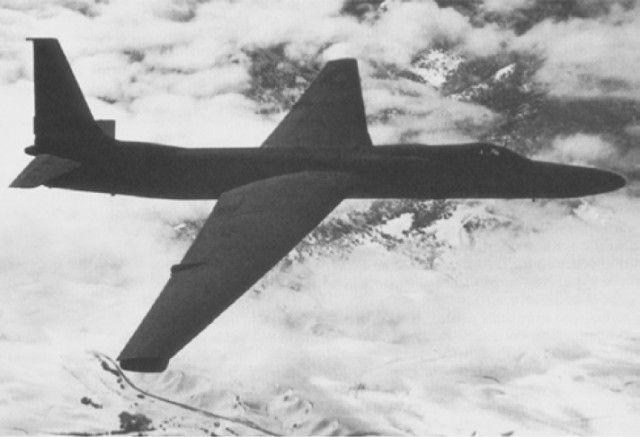 U-2 spy plane in flight.