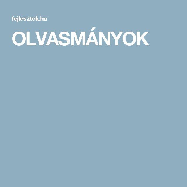 OLVASMÁNYOK